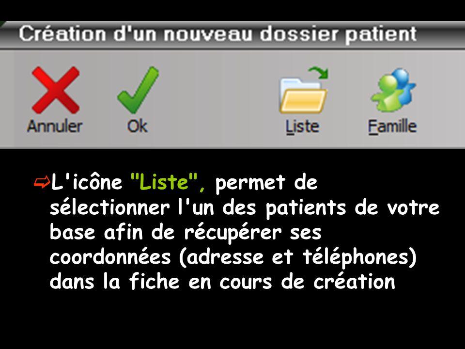 La case à cocher Placer une marque dans la liste des patients permet de placer en regard du nom du patient un petit drapeau de la couleur choisie