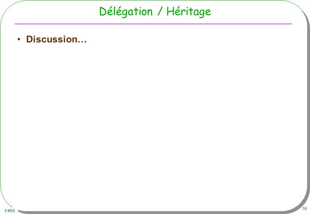 ESIEE 52 Délégation / Héritage Discussion…