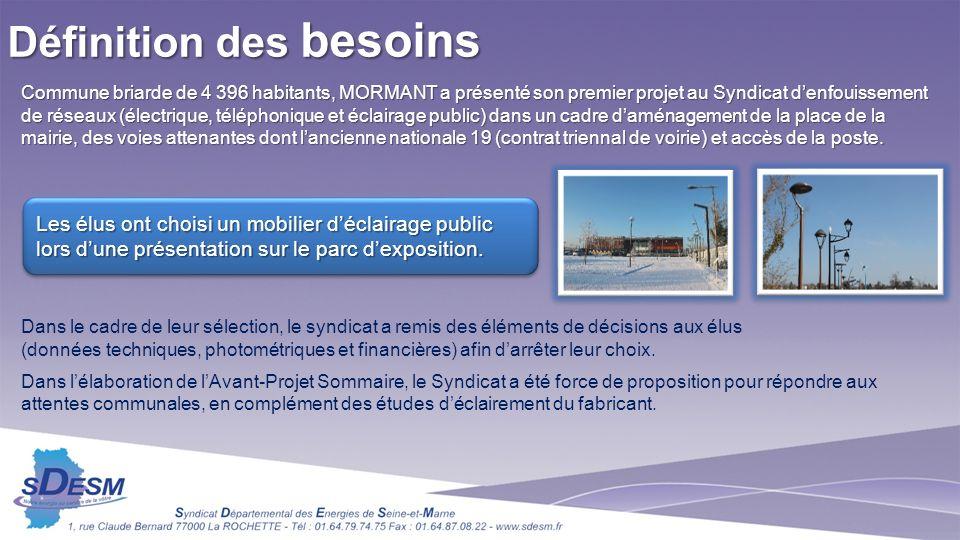 Commune briarde de 4 396 habitants, MORMANT a présenté son premier projet au Syndicat denfouissement de réseaux (électrique, téléphonique et éclairage