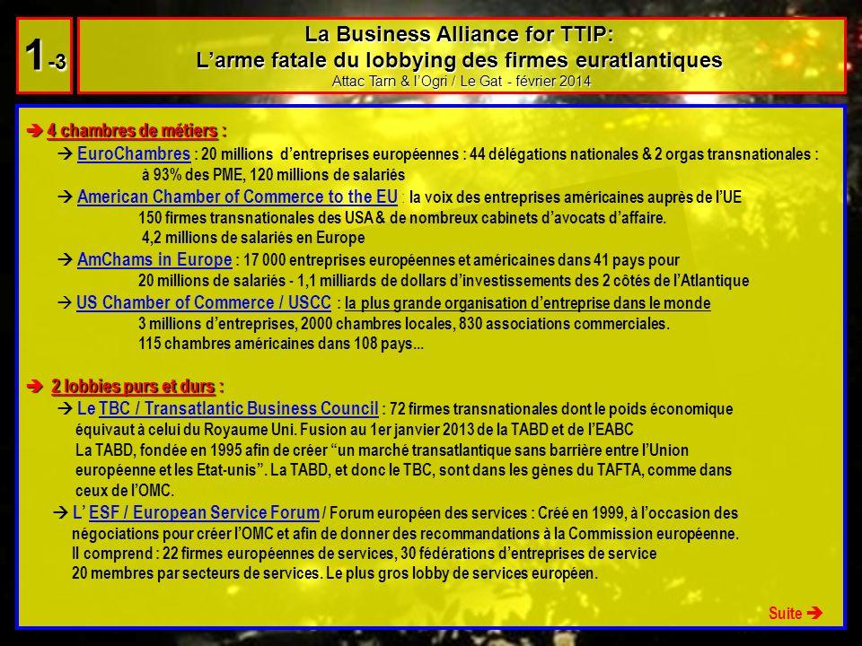 Un lobby collusif : Un lobby collusif : Le TPN / Transatlantic Policy Network : bien connu aussi de nos services (voir notre diaporama Alerte Tafta) ce lobby majeur dans la création dun marché transatlantique sans barrière entre lUE et les Etats-Unis a été crée en 1992, soit 2 ans après la création du Partenariat transatlantique, acte fondateur qui mènera 22 ans plus tard au Tafta/TTIP.