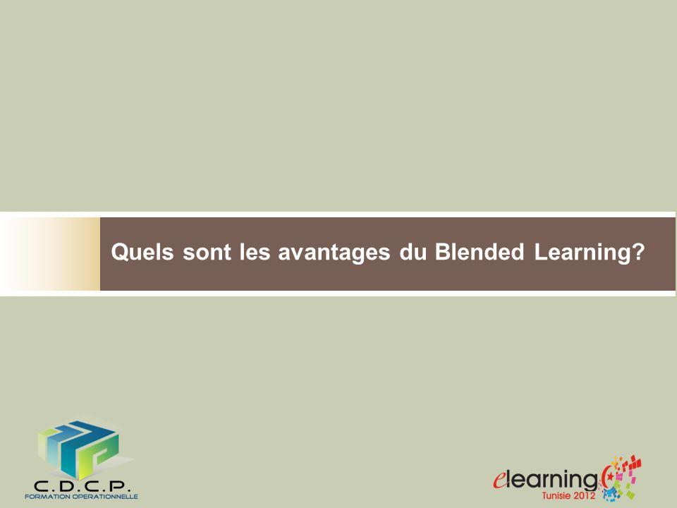 Quels sont les avantages du Blended Learning