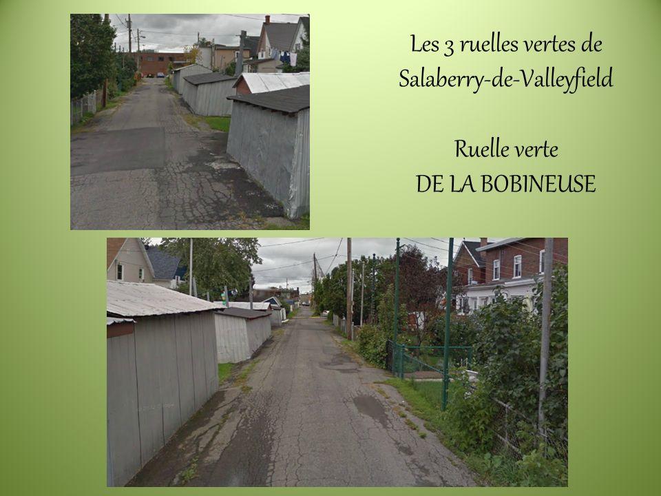 Les 3 ruelles vertes de Salaberry-de-Valleyfield Ruelle verte DE LA BOBINEUSE