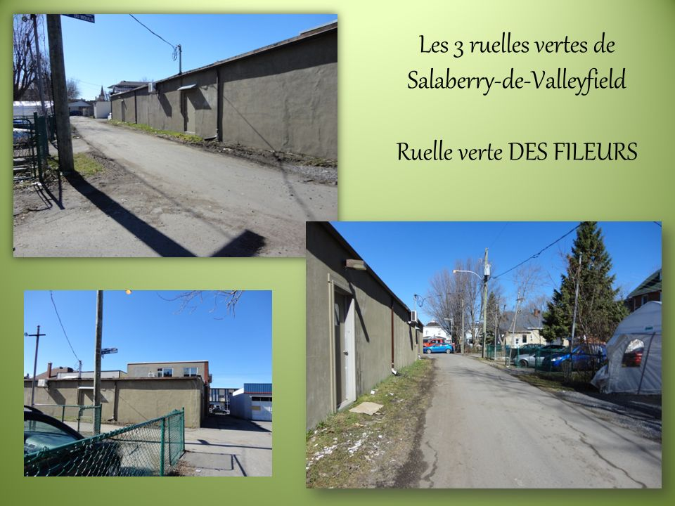 Les 3 ruelles vertes de Salaberry-de-Valleyfield Ruelle verte DES FILEURS