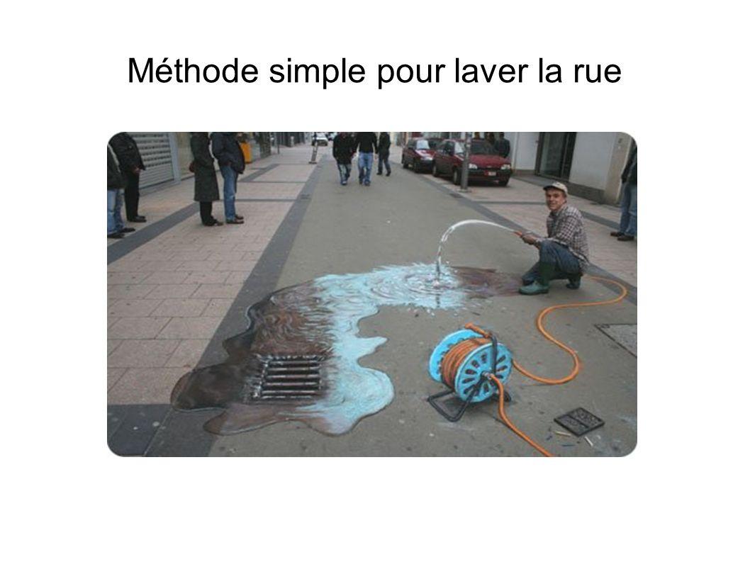 Méthode simple pour laver la rue