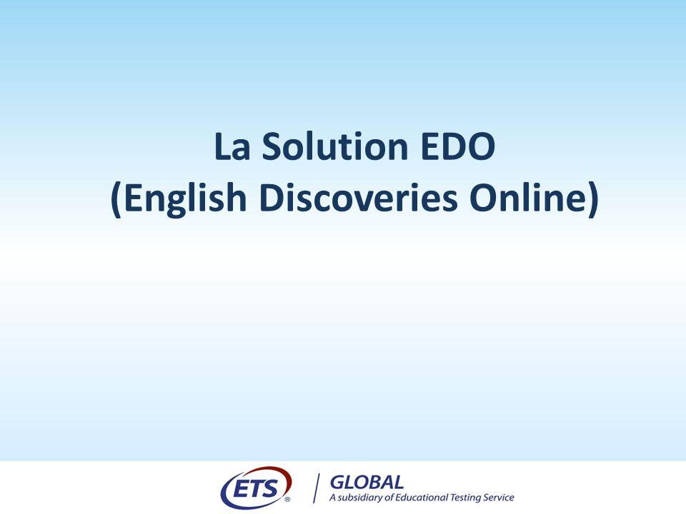 La Solution EDO (English Discoveries Online)