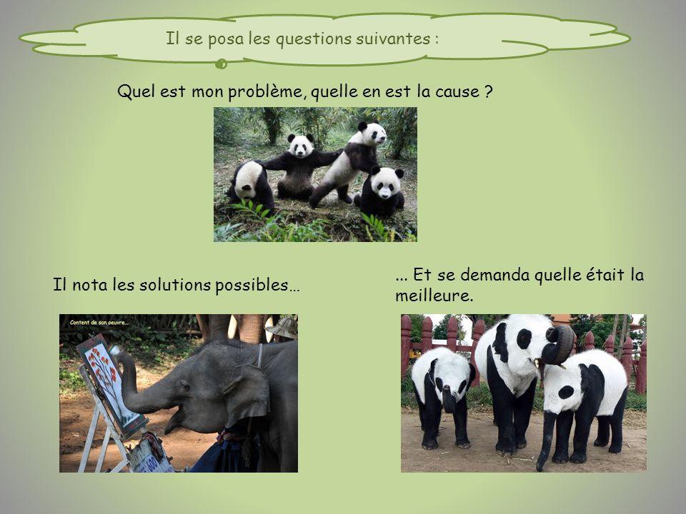 Quel est mon problème, quelle en est la cause . Il nota les solutions possibles…...