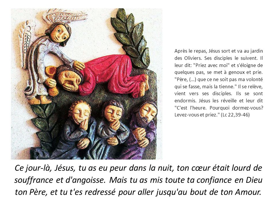 Jésus parlait encore quand les soldats arrivent.