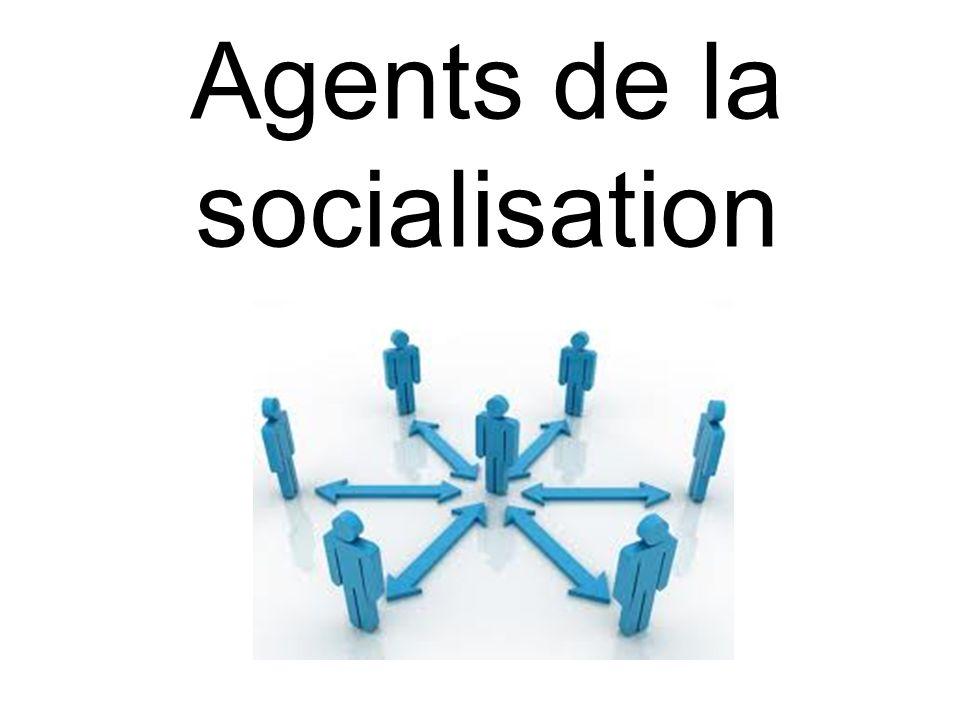Il existe 7 agents de la socialisation qui interagissent avec les 4 éléments étudiés.