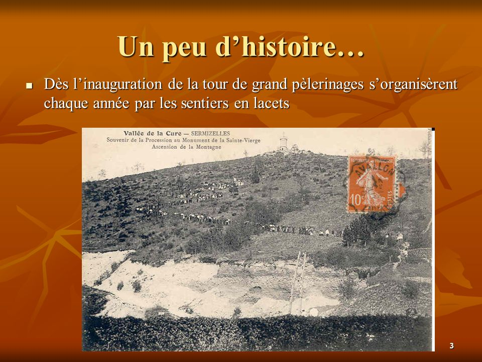 28 janvier 2005Pierre BERTOUX4 Un peu dhistoire… Après une longue interruption, ces pèlerinages furent remis à lhonneur par lAbbé Henri Blanc en 1950, ce qui lui donna lidée de construction dune nouvelle chapelle.