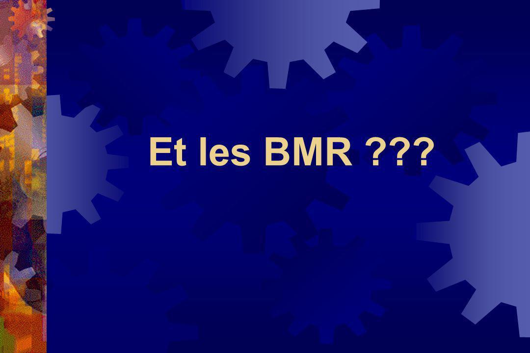 Et les BMR ???
