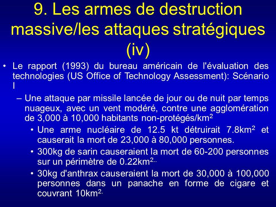 9. Les armes de destruction massive/les attaques stratégiques (iv) Le rapport (1993) du bureau américain de l'évaluation des technologies (US Office o