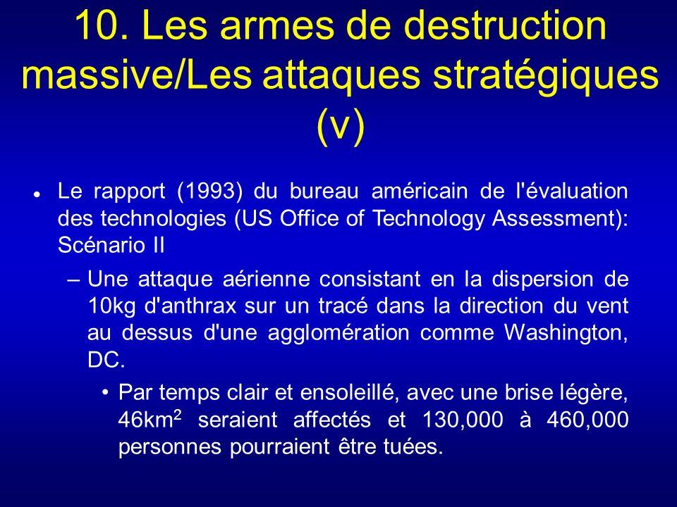 10. Les armes de destruction massive/Les attaques stratégiques (v) Le rapport (1993) du bureau américain de l'évaluation des technologies (US Office o