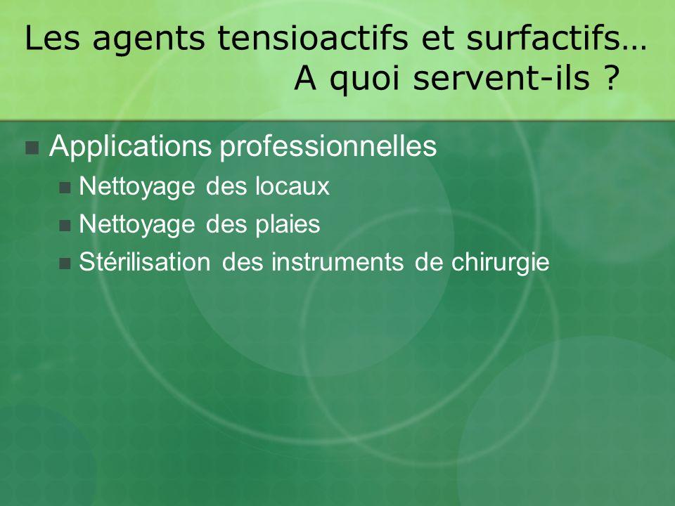 Les agents tensioactifs et surfactifs… A quoi servent-ils .