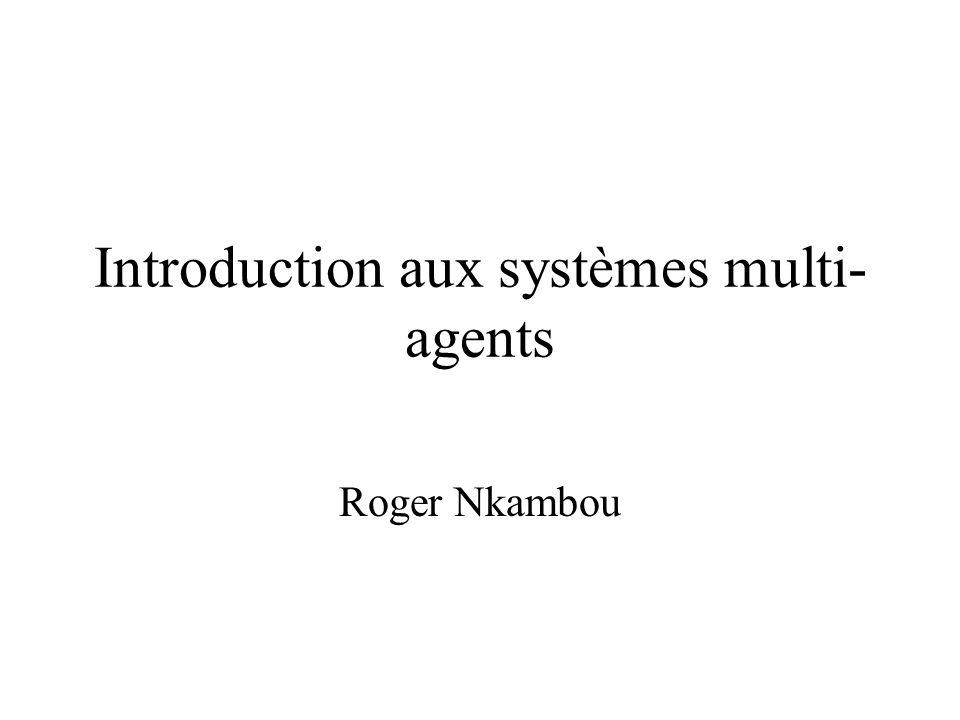 Coopération totale et résolution distribuée de problèmes (suite) - Les agents coopèrent pour résoudre des problèmes qu ils ne peuvent pas résoudre individuellement.