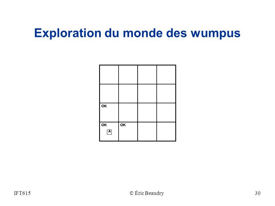Exploration du monde des wumpus IFT615© Éric Beaudry30