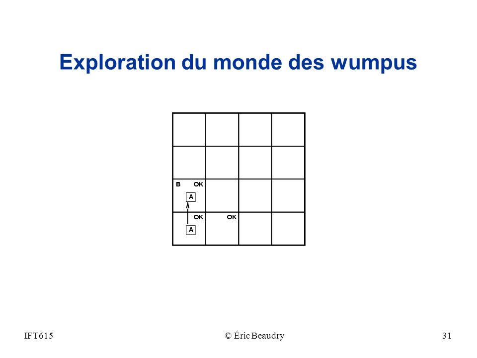 Exploration du monde des wumpus IFT615© Éric Beaudry31