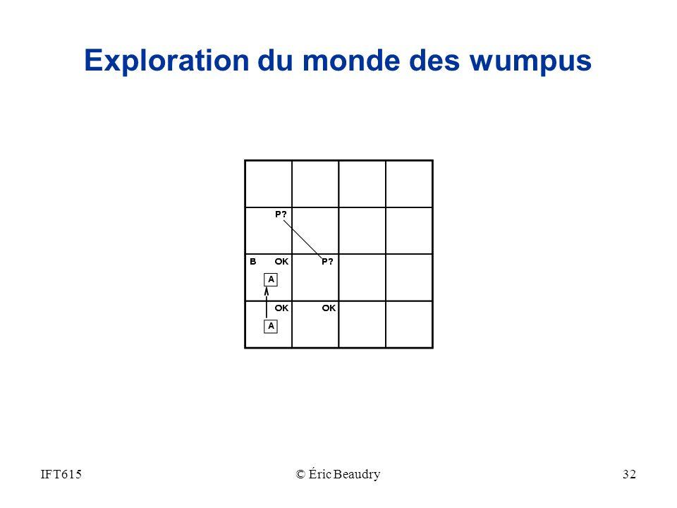 Exploration du monde des wumpus IFT61532© Éric Beaudry