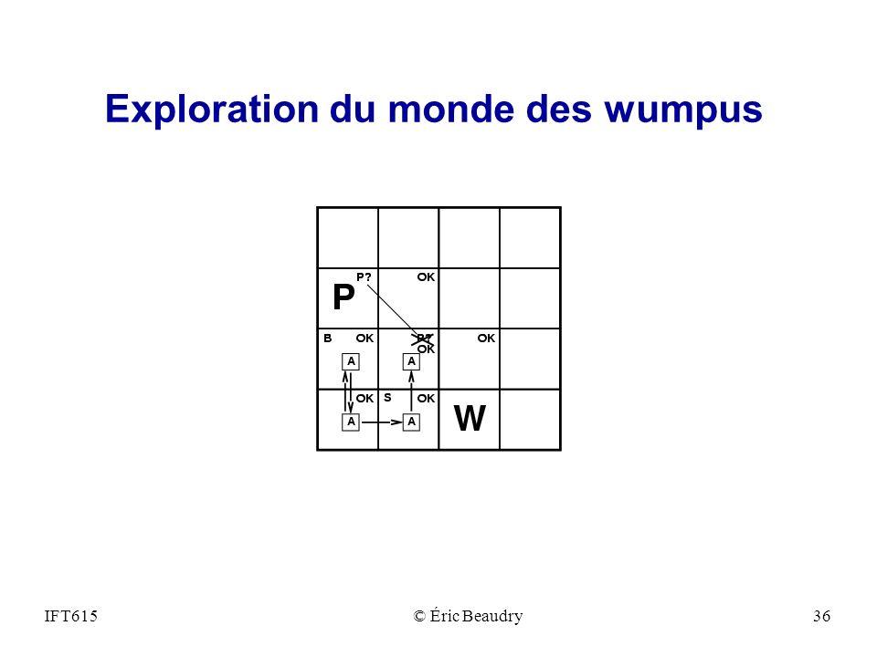 Exploration du monde des wumpus IFT615© Éric Beaudry36