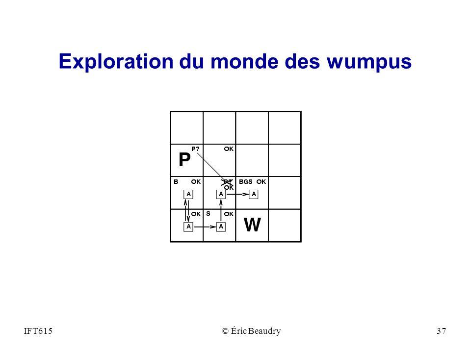 Exploration du monde des wumpus IFT615© Éric Beaudry37
