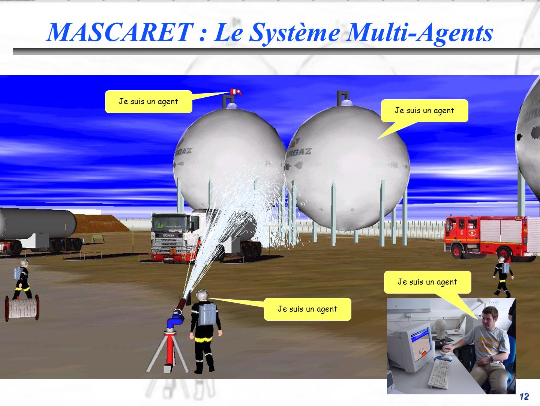 12 MASCARET : Le Système Multi-Agents Je suis un agent
