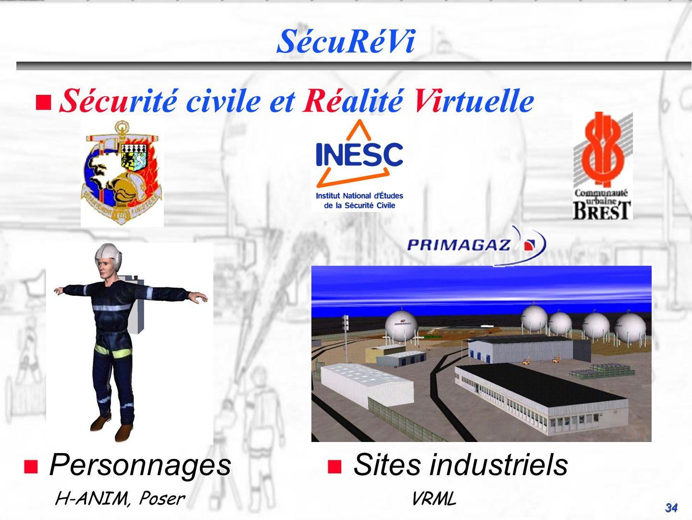 34 SécuRéVi n Personnages n Sites industriels Sécurité civile et Réalité Virtuelle H-ANIM, Poser VRML