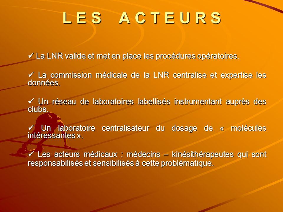 L E S A C T E U R S La LNR valide et met en place les procédures opératoires. La LNR valide et met en place les procédures opératoires. La commission