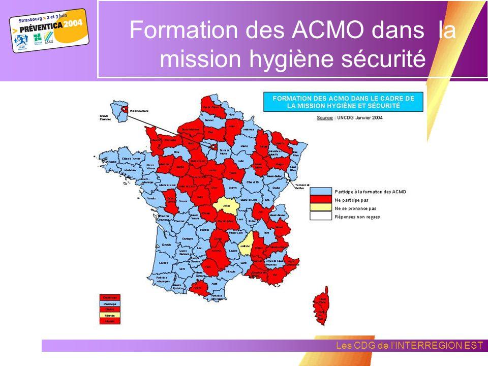 Les CDG de lINTERREGION EST La mission Hygiène Sécurité
