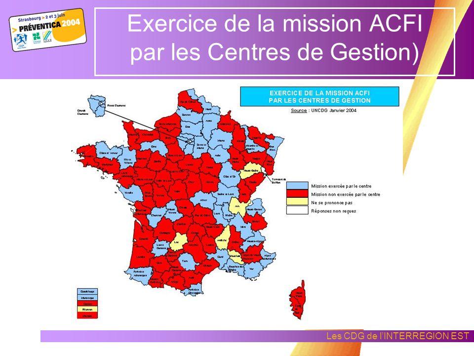 Les CDG de lINTERREGION EST Formation des ACMO dans la mission hygiène sécurité