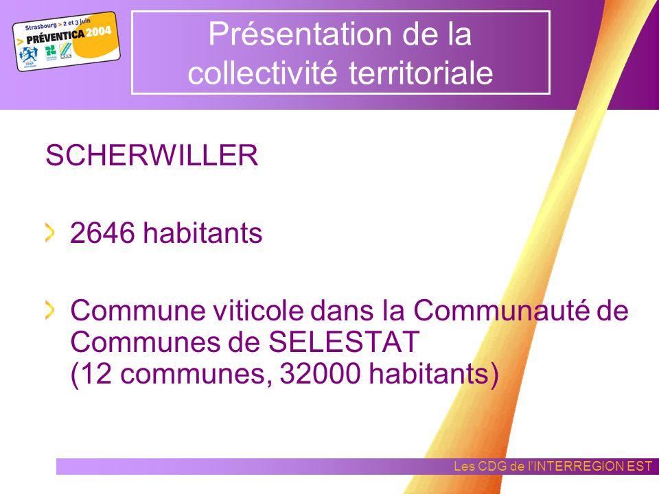 Les CDG de lINTERREGION EST Témoignage dun ELU Emile BARTHEL Elu dune collectivité du Bas – Rhin SCHERWILLER (67)