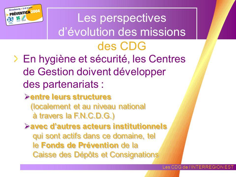 Les CDG de lINTERREGION EST Les constats de la mise en œuvre de laction collective par les CDG Afin de mettre en place des solutions adaptées à un enj