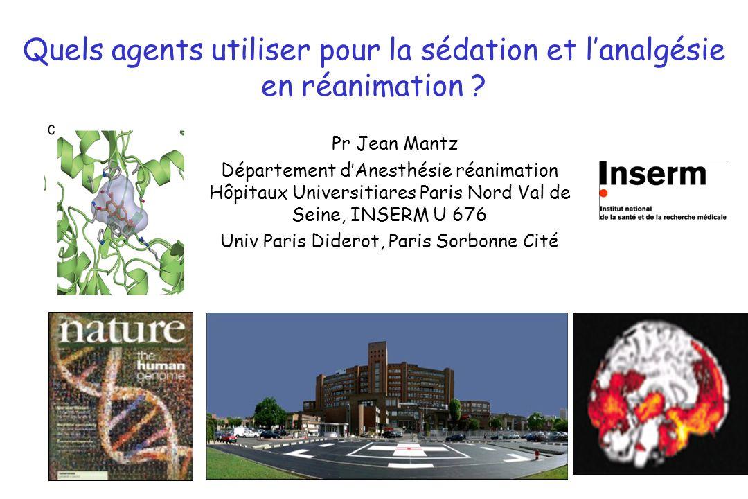 Conclusion La façon dadministrer les agents de sédation et danalgésie est plus importante que la nature des agents.