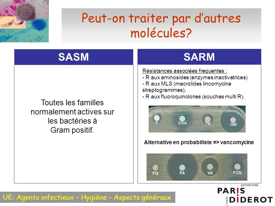 UE: Agents infectieux – Hygiène – Aspects généraux Peut-on traiter par dautres molécules.