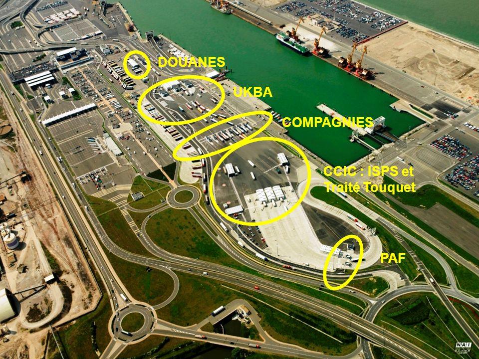 Incidences des procédures de contrôle portuaire sur la gestion des flux : le cas dun port rapide PAF CCIC : ISPS et Traité Touquet COMPAGNIES UKBA DOUANES