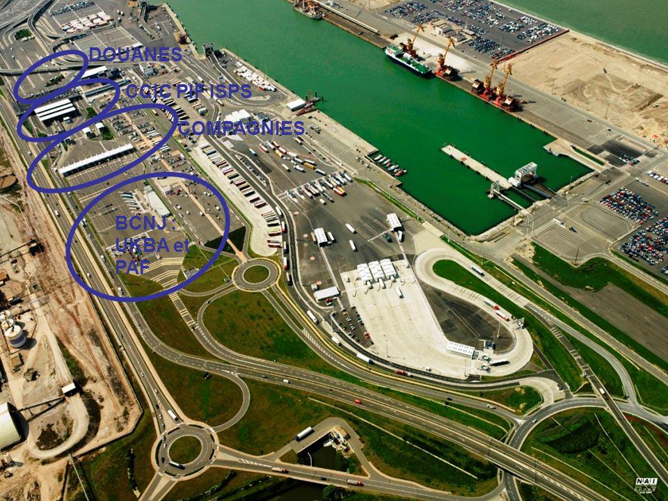 Incidences des procédures de contrôle portuaire sur la gestion des flux : le cas dun port rapide BCNJ : UKBA et PAF COMPAGNIES CCIC PIF ISPS DOUANES