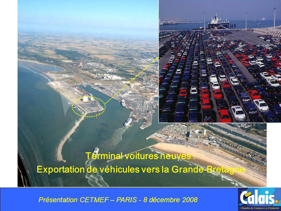 Terminal voitures neuves : Exportation de véhicules vers la Grande-Bretagne