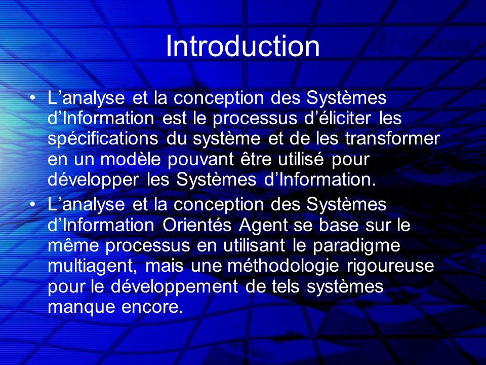 Introduction Lanalyse et la conception des Systèmes dInformation est le processus déliciter les spécifications du système et de les transformer en un