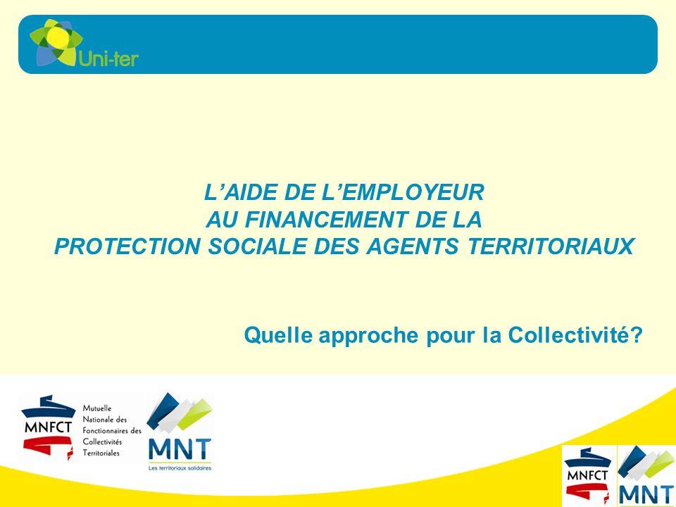 LAIDE DE LEMPLOYEUR AU FINANCEMENT DE LA PROTECTION SOCIALE DES AGENTS TERRITORIAUX Quelle approche pour la Collectivité?