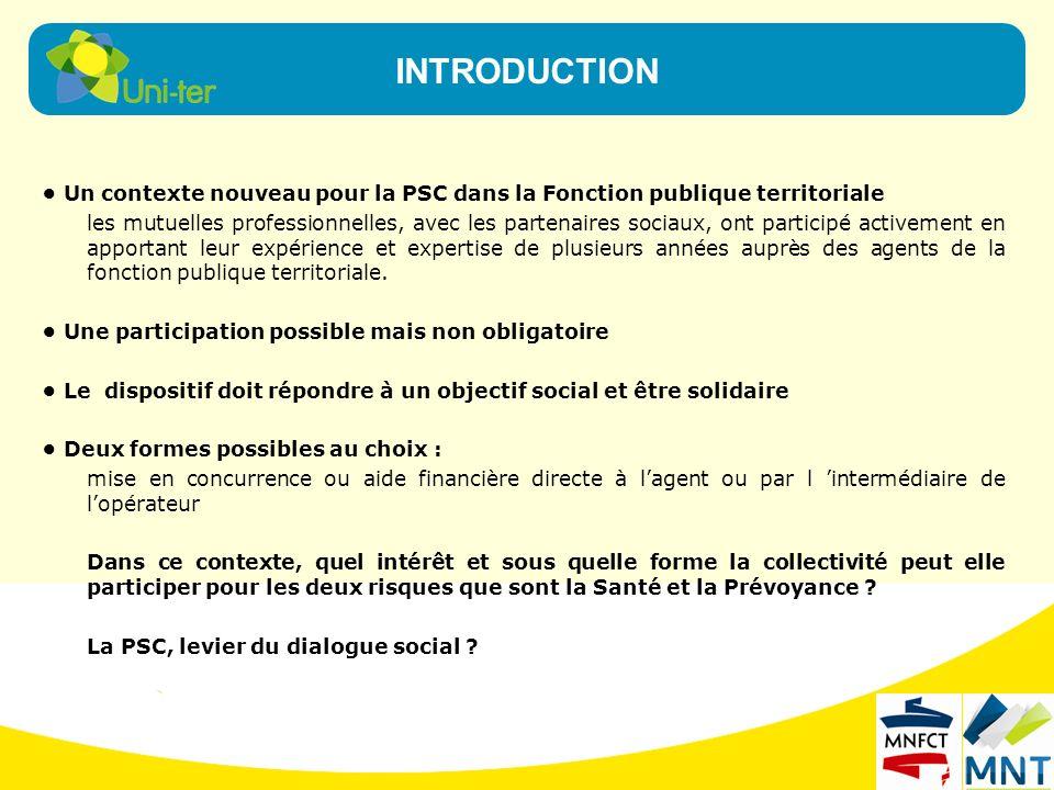Un contexte nouveau pour la PSC dans la Fonction publique territoriale les mutuelles professionnelles, avec les partenaires sociaux, ont participé act