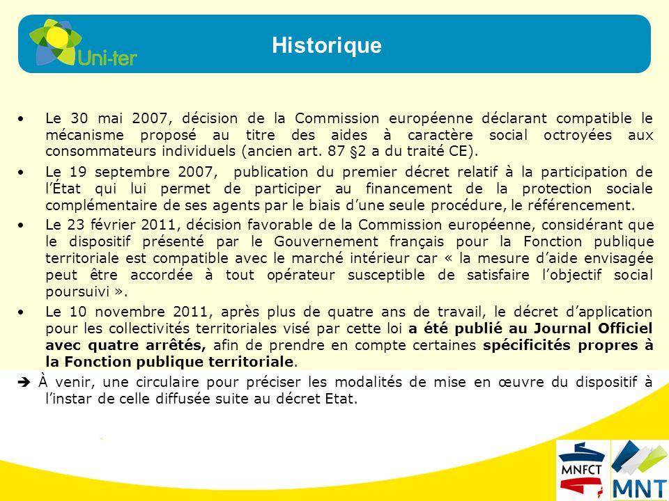Le 30 mai 2007, décision de la Commission européenne déclarant compatible le mécanisme proposé au titre des aides à caractère social octroyées aux con