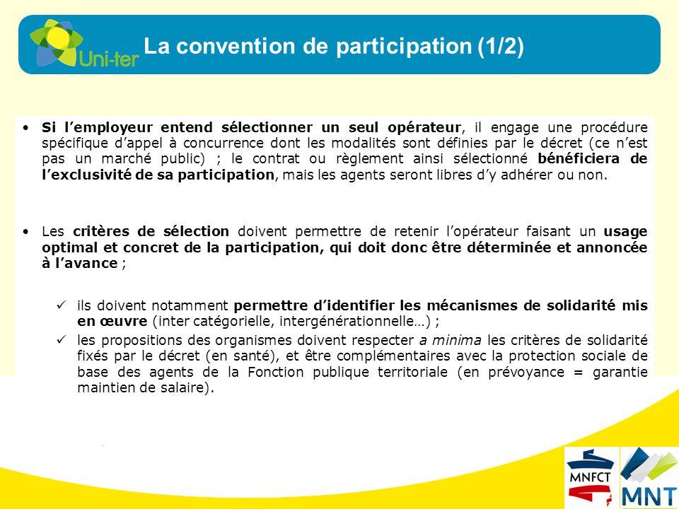 Pour le risque santé, la convention de participation, solution collective, est plus complexe.