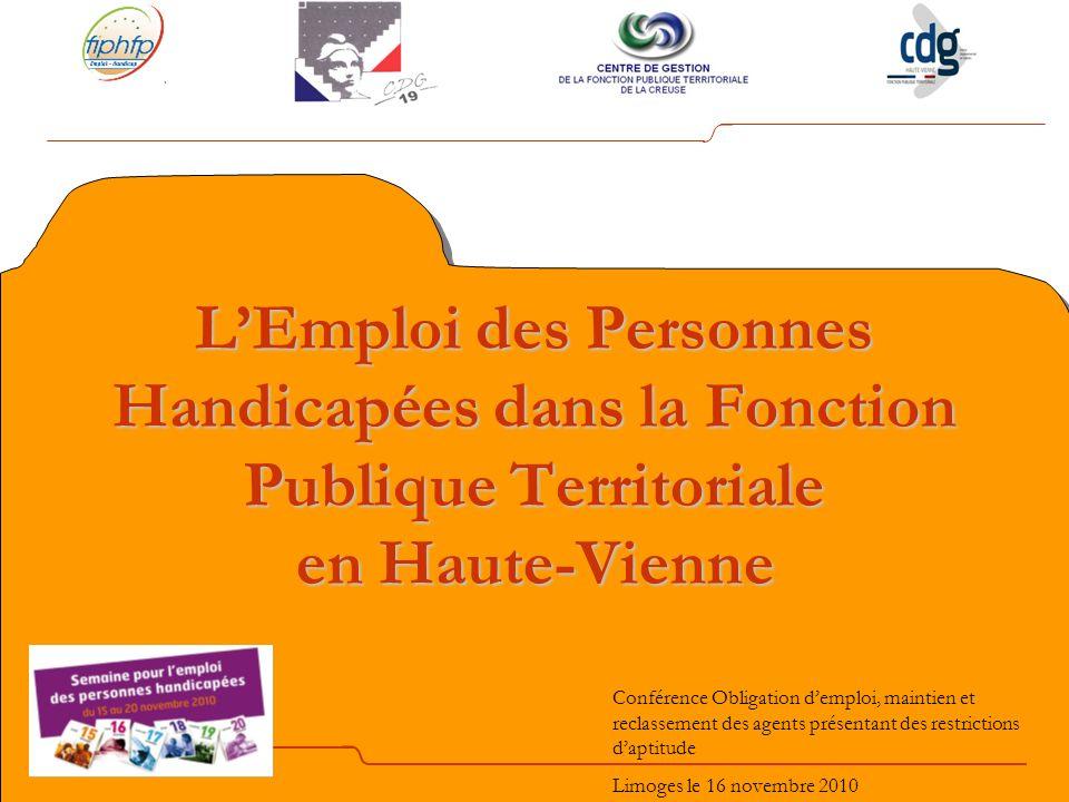 Introduction Les trois Centres de Gestion de la Région Limousin ont signé au 1 er juillet 2009 une convention avec le FIPHFP.