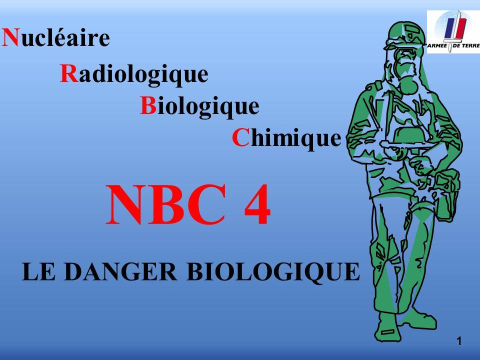 1 Nucléaire Radiologique Biologique Chimique NBC 4 LE DANGER BIOLOGIQUE