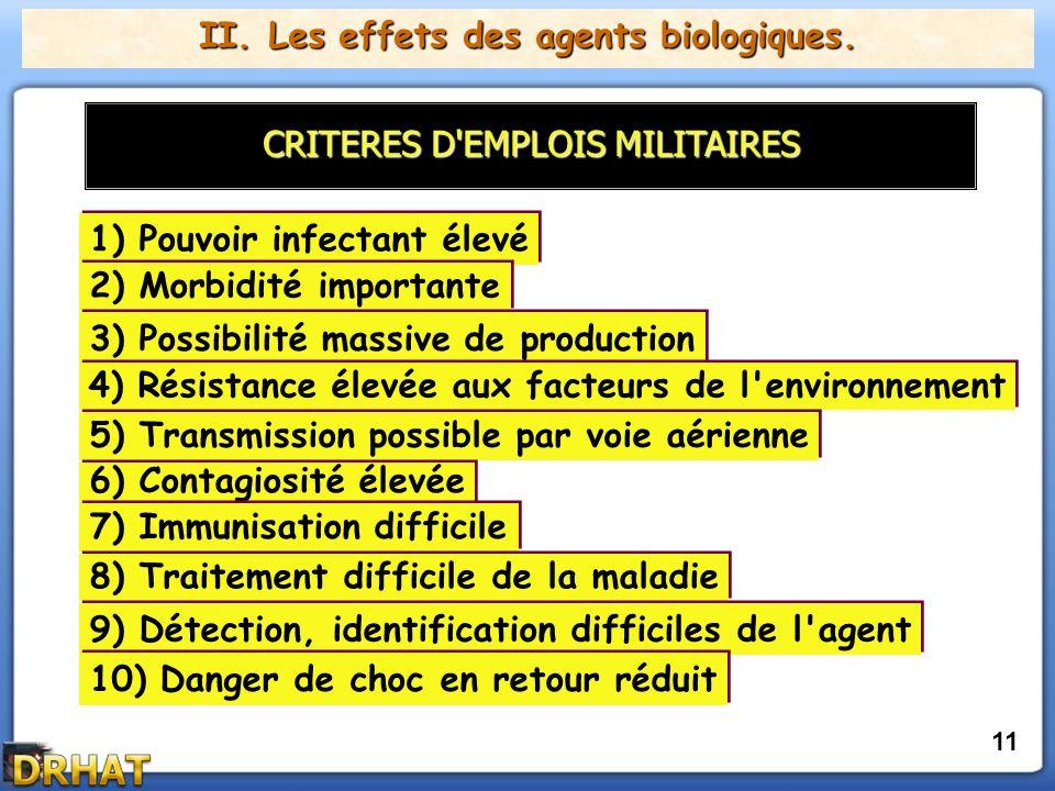 II.Les effets des agents biologiques.