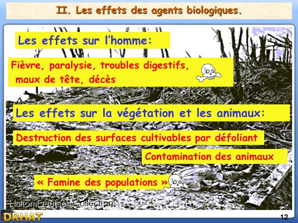12 II.Les effets des agents biologiques.