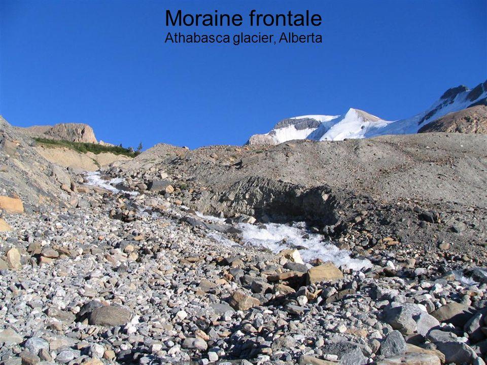 Moraine frontale Athabasca glacier, Alberta