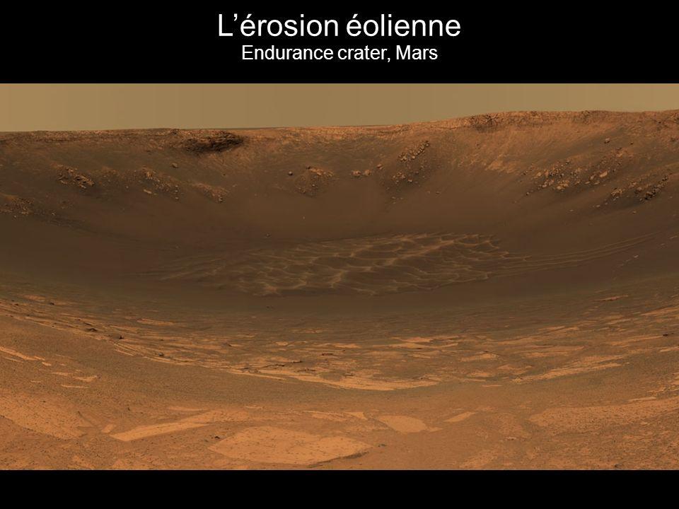 Lérosion éolienne Endurance crater, Mars