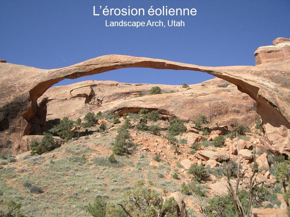 Lérosion éolienne Landscape Arch, Utah