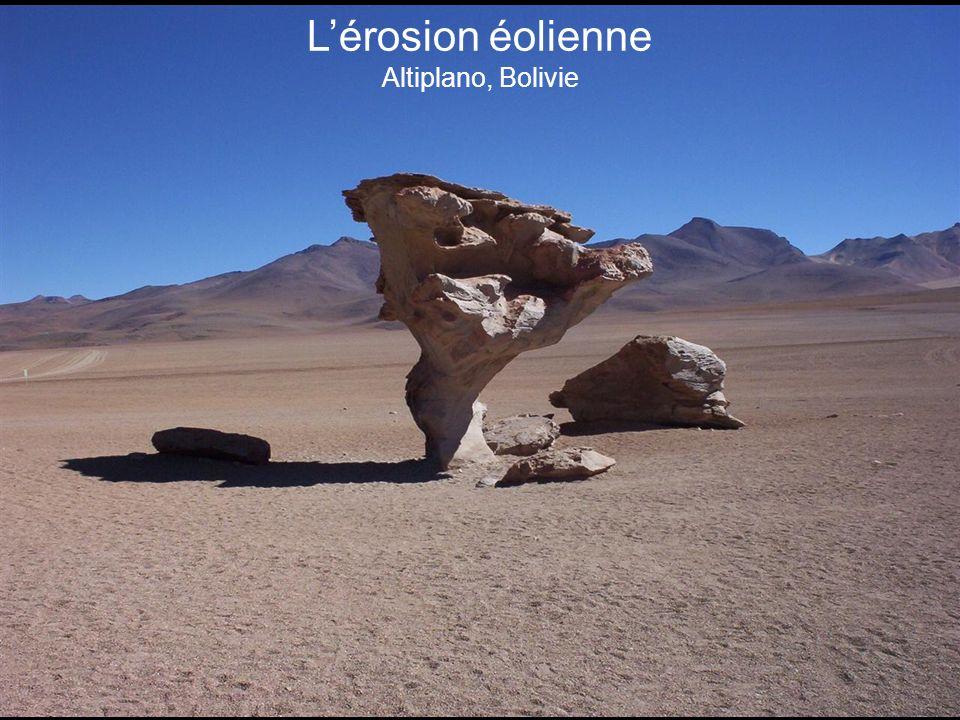 Lérosion éolienne Altiplano, Bolivie