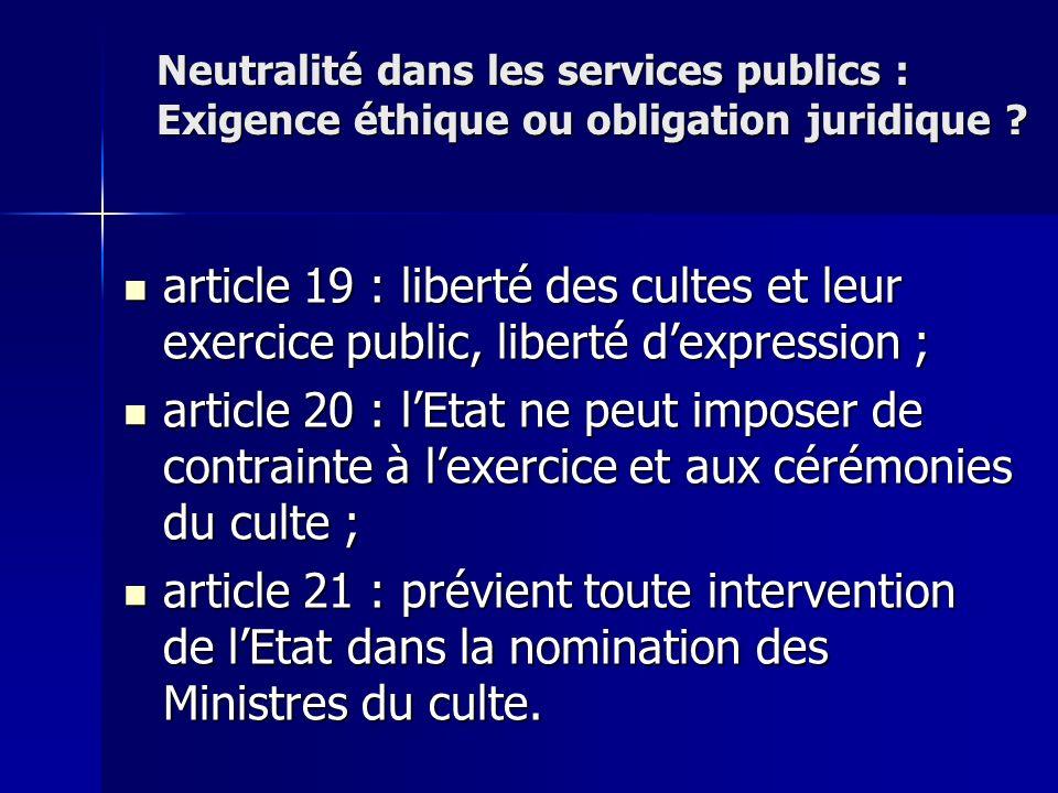article 19 : liberté des cultes et leur exercice public, liberté dexpression ; article 19 : liberté des cultes et leur exercice public, liberté dexpre