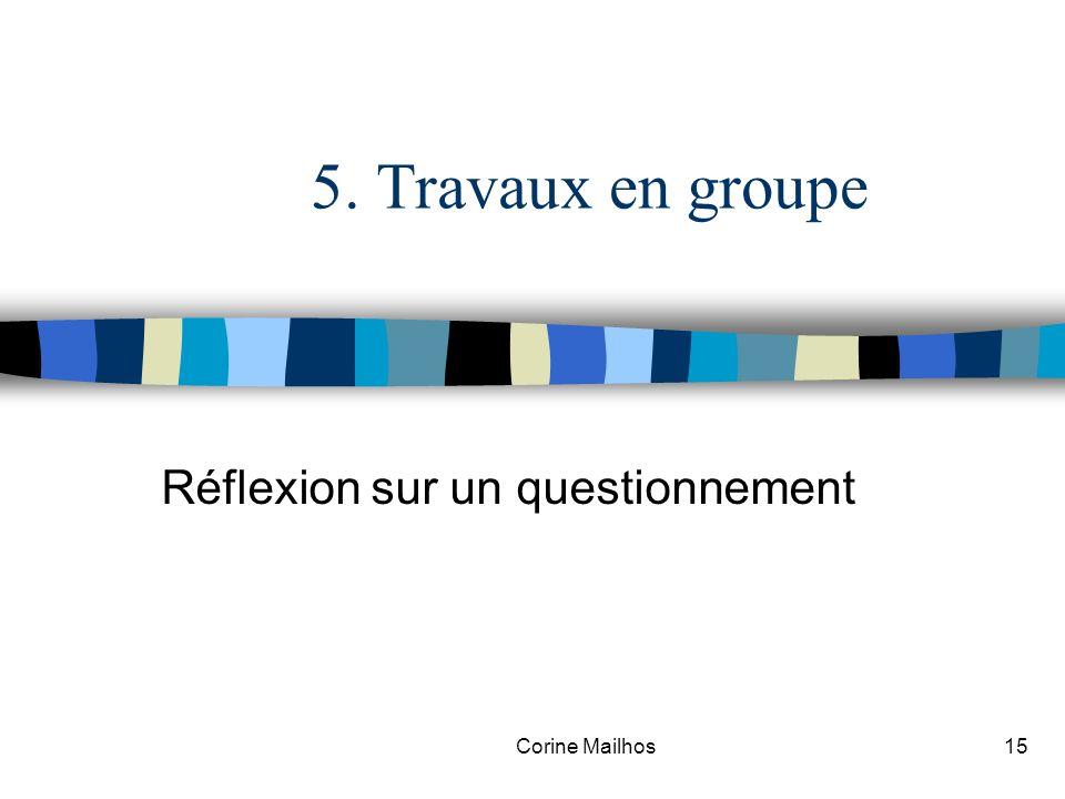 Corine Mailhos14 4. Présentation de la mise en situation n Partie 1 : Le diagnostic, la ville de Troyes en 2002 n Partie 2 : La mise en place dune pri